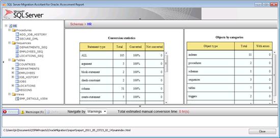 使用SSMA将Oracle数据库转成SQL Server 2008