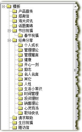 模板树状分类